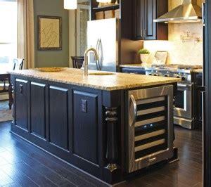 kitchen island with refrigerator kitchen cabinet design island options burrows cabinets 5221