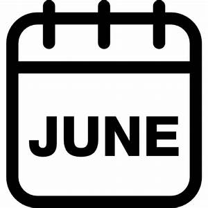 June calendar monthly page Icons | Free Download