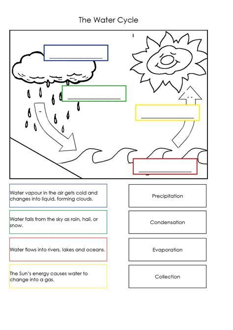 water cycle worksheets  kids  yahoo image search