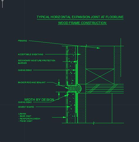 Stucco Detail 10typical Horizontal Expansion Joint At