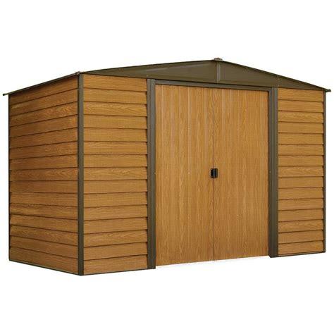 metal storage shed shop arrow woodridge galvanized steel storage shed common