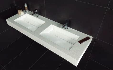 vasques largeur  plan double vasques suspendue ou