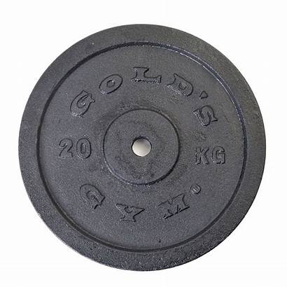 Weight Gym Plate Iron 20kg Cast Golds