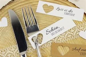 Glückwunschkarten Hochzeit Selber Machen Kostenlos : diy tischkarten einfach selber machen kostenlose ~ Watch28wear.com Haus und Dekorationen