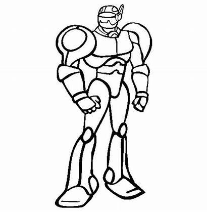 Robot Coloring Action Robots Figures Dessin Gambar