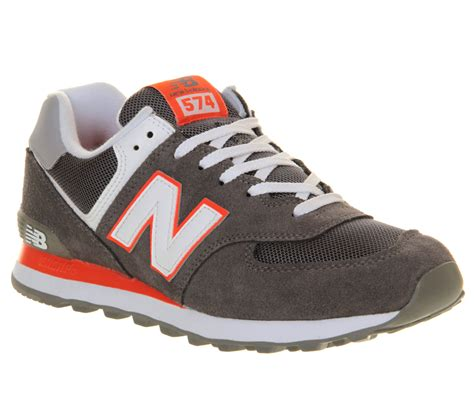 lyst new balance m574 in gray for