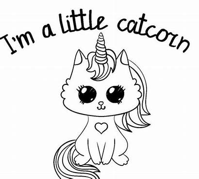 Unicorn Coloring Pages Kitty Cat Colouring Printable