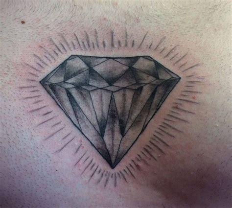 chest piece diamond grey diamond men  tattoos mens