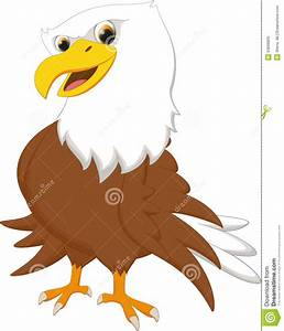 Cute eagle cartoon stock vector. Illustration of drawing ...