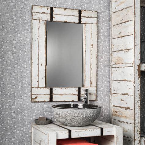 miroir de salle de bain en mindi  loft blanc