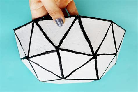 diy geodesic dome bowl     cardboard box