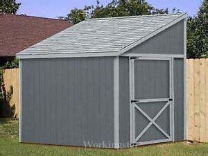 slant lean  style shed plans building