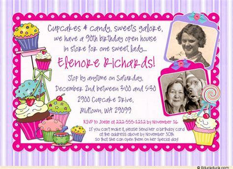 wording   birthday invitations sweet open house