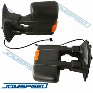 Manual Side Mirror W   Amber Turn Signal Towing Mirrors
