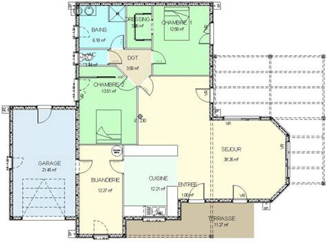 construction 86 fr gt plan maison ossature bois plain pied type 4