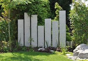 Sichtschutz Im Garten : steinstelen sichtschutz sichtschutz garten nat rlicher ~ A.2002-acura-tl-radio.info Haus und Dekorationen