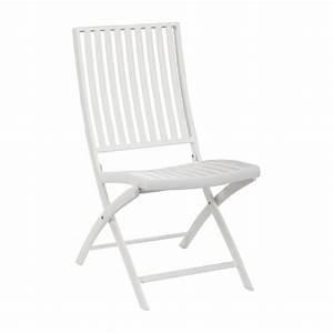 Chaise De Jardin Blanche : blanche chaise de jardin en aluminium laqu blanc habitat ~ Dailycaller-alerts.com Idées de Décoration
