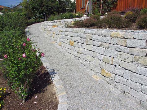 Mauer Im Garten Mauer Trockenmauer Stein Gartengestaltung Gartenbau