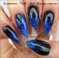 Royal blue and black nail designs best cars