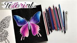 Tutorial  Easy Galaxy With Colored Pencils
