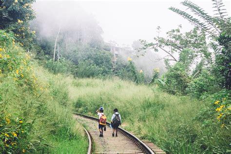 Nachhauseweg In Ella  Auf Den Schienen In Sri Lanka