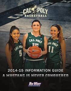 ISSUU - 2014-15 Cal Poly Women's Basketball Information ...