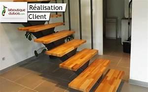 Marche Bois Escalier : exemples d escaliers bois sur mesure le blog du bois ~ Premium-room.com Idées de Décoration