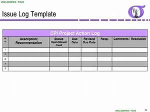 cute issue resolution template images resume ideas www With project management issues log template
