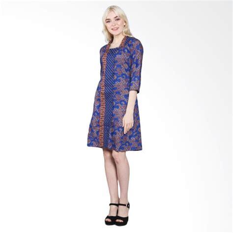 dress blus panjang motif batik lengan panjang hana