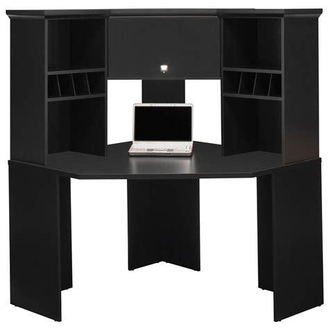black corner computer desk with hutch bush stockport corner desk with hutch desks at hayneedle