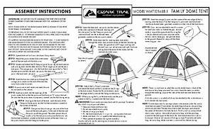 Ozark Trail 8 Person 2-room Dome Tent