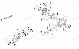 Arctic Cat Atv 2014 Oem Parts Diagram For Rear Drive