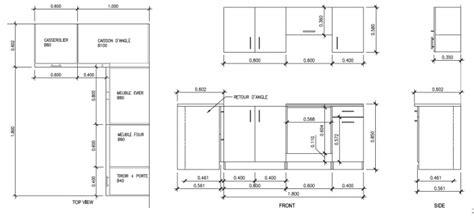 hauteur meuble de cuisine meuble de cuisine dimension cuisine en image