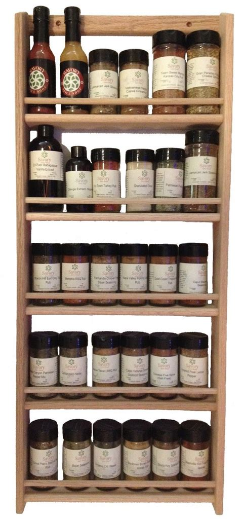 spice rack wall rustic wood retail product display fixtures