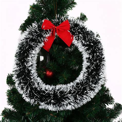 festive 35cm christmas xmas tree decorative wreath hanging