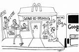 Mcdonald Coloring Restaurant Mcdonalds Mission 24th Opening Grand Featured Printable Local sketch template