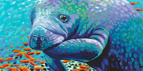 manatee canvas art prints manatee panoramic