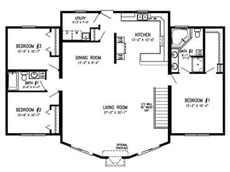 modular homes  open floor plans log cabin modular