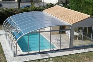 Abri De Terrasse Retractable : abri de piscine plat bas mi haut r sidentiel adoss ~ Dailycaller-alerts.com Idées de Décoration