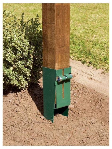 apollo metal garden broken fence post repair spur mm  mm
