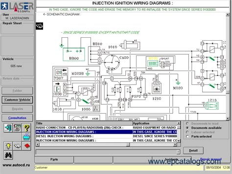 Peugeot 206 Wiring Diagram Software by Peugeot Laser