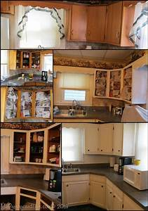 kitchen cabinets updated with paint trim 1342