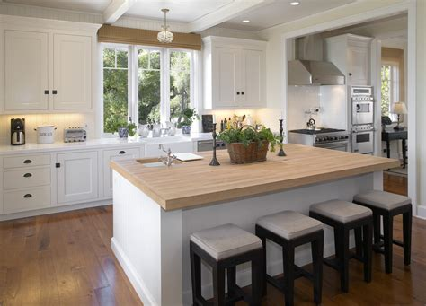 dazzling butcher block island  kitchen modern