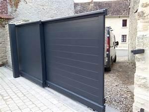 Portail Coulissant 2 Vantaux : 17 best images about portail coulissant 2 vantaux on ~ Edinachiropracticcenter.com Idées de Décoration