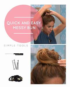 How To Do A Quick And Easy Messy Bun Obsev