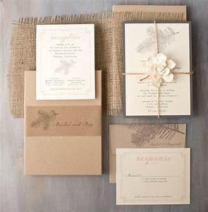 rustic elegant boxed wedding invitations burlap woodland With cost of boxed wedding invitations