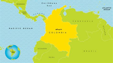 colombia country map map  colombia country south