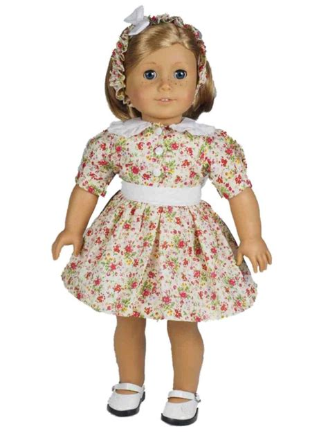 18 quot doll clothing 1930 s style cotton dress fits american