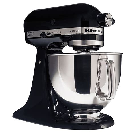 kitchenaid ksmpsob artisan series onyx black  quart
