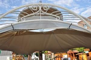 Pavillon Metall Wetterfest : sonnenschutz f r pavillon romantik 400cm ~ Watch28wear.com Haus und Dekorationen